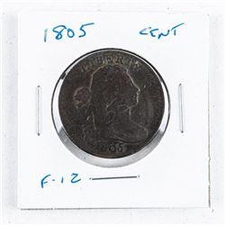 1805 USA Cent Coin F-12 SCARCE