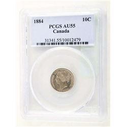 1884 PCGS Canada 10 Cent AU55