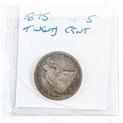 1875 USA Twenty Cent Silver Coin