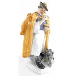 Hendrix 'Hungary' Fine Porcelain Figurine  'Man with Dog' Hand Painted 'Scarce'. Gallery  $800.