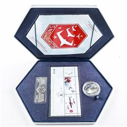 Snowbirds 'CF' .9999 Fine Silver Coin and  Stamp Set
