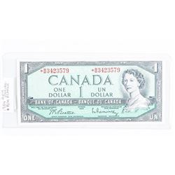 Bank of Canada 1954 * Replacement 1.00 (B/R)  Scarce. GEM UNC