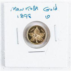 MANITOBA 1898 1D Gold Coin