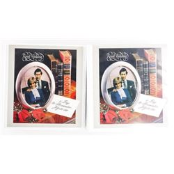 Estate Royal Wedding Stamp and Cover  Collection 2 Albums