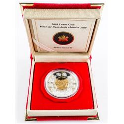 2009 RCM Lunar Coin 'Year of the Ox' 925  Sterling Silver $15.00 Coin with C.O.A. (SOR)