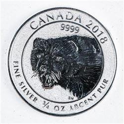 .9999 Fine Silver $2.00 Coin 'Wolverine'