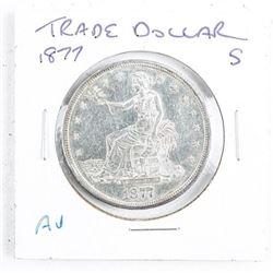 1877(S) USA Silver Trade Dollar (AU)