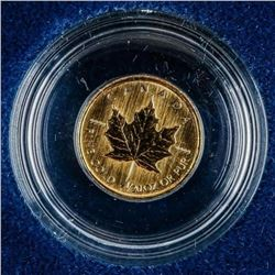 .9999 Fine Pure Gold Maple Leaf Coin 1993  Cased