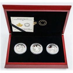 C. Krieghoff 200th Anniversary Coin Set, 3x  .9999 Fine Silver $5.00 Coins. LE/C.O.A.