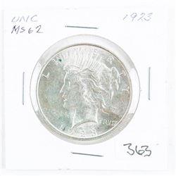 1923 US Silver Peace Dollar MS62