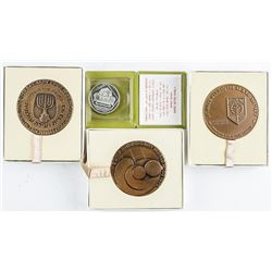 Lot (4) Israel Medals 3x Bronze and 1x Silver