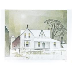 A.J. Casson (1898-1992) LE Litho 'Winter Sun'  Low Edition / 10 Worldwide Original Folio  Case with
