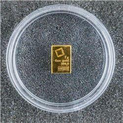 .9999 Fine 24kt Pure Gold Bar