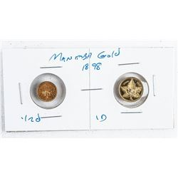 MANITOBA 1898 1/2D and 1D Gold Coin Set