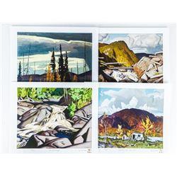 "A.J. Casson (1898-1992) Art Folio 4 Images  'Madawaska Vista' LE 12x13"" Matched Nos."