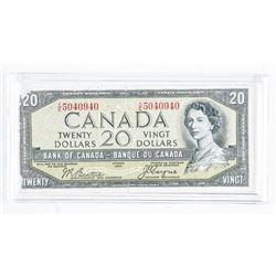 BANK OF CANADA 1954 - Twenty Dollar Note.  Devil's faceÂ