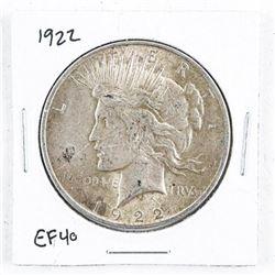 1922 USA Silver Dollar EF40