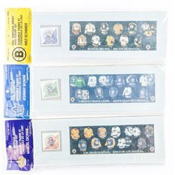 Lot (3) NHL Heritage Jersey and Stamp Set