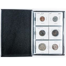 Starter Coin Collection in Stock Book with 12  Coins includes Silver Coins