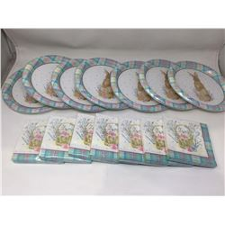 Lot of Paper Plates and Napkins