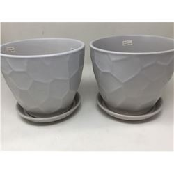 Green Planter Pots-Grey