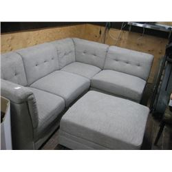 LIGHT GREY COUCH WITH ADAMEN 5-PC
