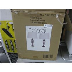SET OF 2 ASSORTED TABLE LAMPS