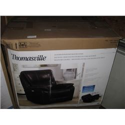 NEW THOMASVILLE LEATHER POWER ROCKER RECLINER