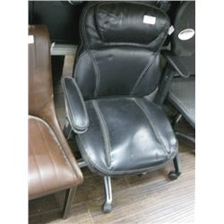 BLACK OFFICE CHAIR NO ARM