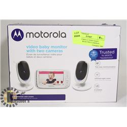 NEW MOTOROLA VIDEO BABY MONITOR WITH TWO CAMERAS
