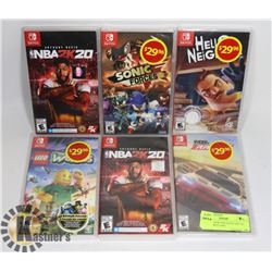 LOT OF 5 NEW NINTENDO SWITCH GAMES: INCLUDES