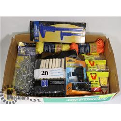 FLAT OF ASSORTED NEW PRODUCT INCLUDING PAINT