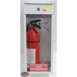 FULLY CHARGED FIRE EXTINGUISHER IN CASE W/ P.GLASS