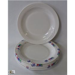"""PACKAGE OF 6 OPAL CYPRESS 9"""" IVORY PLATES,MADE IN"""