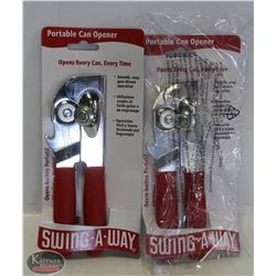 FOCUS PORTABLE RED CAN OPENER, LOT OF 2