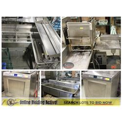FEATURED LOTS: COMMERCIAL DISHWASHERS & SINKS