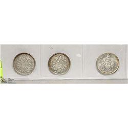 3 CDN 50 CENT  1957,1958,1959