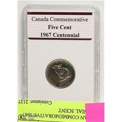 CANADIAN COMMEMORATIVE 1967 CENTENNIAL 5CENT