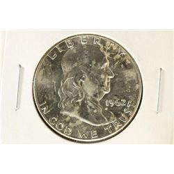 1962-D FRANKLIN HALF DOLLAR BRILLIANT UNC