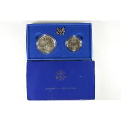 1986 US LIBERTY 2 COIN UNC SET