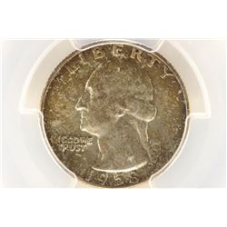 1958-D WASHINGTON SILVER QUARTER PCGS MS66