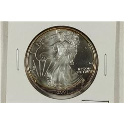 2001 AMERICAN SILVER EAGLE BRILLIANT UNC A LITTLE