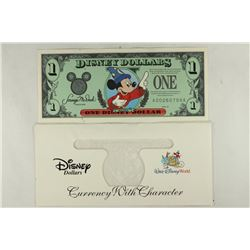 1997 DISNEY DOLLAR MICKEY CRISP UNC WITH DISNEY