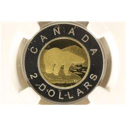 2016 CANADA BI-METALLIC POLAR BEAR $2 NGC PF68