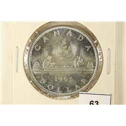 1965 TYPE III CANADA SILVER DOLLAR BU
