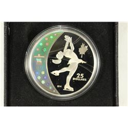 2008 CANADA $25 STERLING SILVER FIGURE SKATING