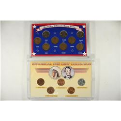 2-US COIN SETS, WWII LINCOLN PENNY SERIES AND