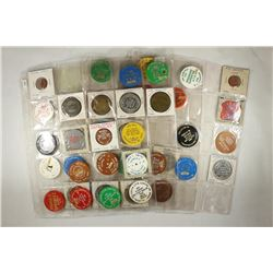 51 ASSORTED COIN SHOW RELATED TOKENS