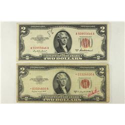1953-A & 1953-B $2 US RED SEAL NOTES THE 1953-B