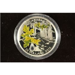2016 CANADA COLORIZED $20 WITH CRYSTAL PROOF